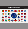 flags european union and members vector image vector image