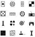 game icon set vector image vector image
