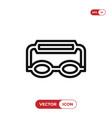 goggles icon vector image vector image
