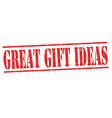 great gift ideas sign or stamp vector image vector image