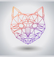 hipster polygonal animal cat triangle animal vector image vector image