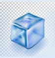 Ice cube isolated transpatrent fresh piece