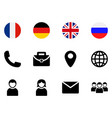 interface for web site icons set symbols of vector image vector image