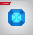 isolated diamond flat icon brilliant vector image