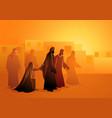 jesus heals bleeding woman vector image