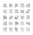 Line Icons With Detail 15 vector image