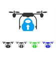 load cargo drone flat icon vector image vector image