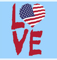 love usa america vintage national flag in vector image vector image