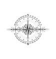 magic ancient viking art deco wind rose navigation vector image