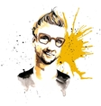 Man ink hipster vector image vector image