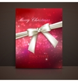 Merry Christmas shiny red holiday background with vector image