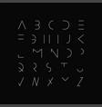 minimal font - modern futuristic design vector image vector image