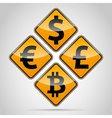 Money sign board set vector image vector image