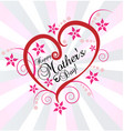 mother s day love heart vector image vector image