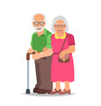 Old couple man and woman standing together