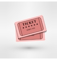 pair cinema tickets on white vector image