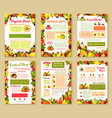 posters set of tropical exotic fruits vector image vector image