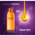 Realistic Cosmetic Tube Poster vector image