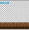 realistic wooden table on a transparent background vector image vector image
