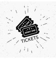 Retro grunge of two black tickets vector image vector image