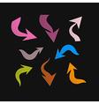 Retro Paper Arrows on Black Background vector image vector image