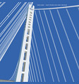 san francisco - oakland bay bridge new tower vector image vector image
