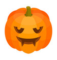 scary halloween pumpkin icon isometric style vector image