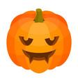 scary halloween pumpkin icon isometric style vector image vector image