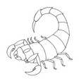 Scorpion coloring book outline