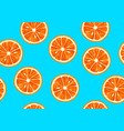 seamless pattern with tropical citrus fruits vector image vector image