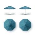 Set of Blue Patio Outdoor Cafe Pub Round Umbrella vector image vector image