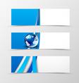Set of header banner digital design vector image vector image