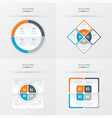 set of presentation template orange blue gray vector image vector image