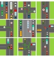 Set of Situations on Road Traffic Laws Govern vector image vector image