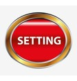Settings sign button vector image vector image