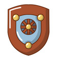 shield icon cartoon style vector image vector image