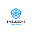 shield with initial s logo design vector image vector image