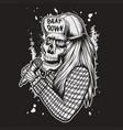 skull sing vector image vector image