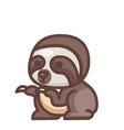 sloth linecolor vector image