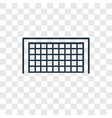 soccer goal concept linear icon isolated on vector image vector image