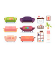 soft furniture sofas living room shelves relax vector image vector image