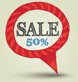 speech sale banner vector image vector image