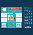 start up flat design infographic template vector image vector image
