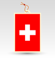swiss made in tag vector image vector image