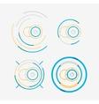 Thin line neat design logo set camera concept vector image vector image