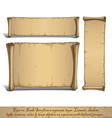 Three Cartoon Scrolls Standing Vertically vector image vector image