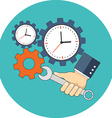 Time management concept Flat design Icon in vector image