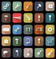 Tool flat icons with long shadow vector image vector image