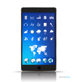 Touchscreen device with application web icons vector image vector image