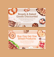 twitter template design with bakery for social vector image vector image